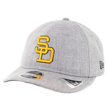 New Era 9Fifty San Diego Padres Heathered Team 1980-1984 Snapback Hat Heather Grey
