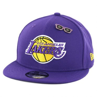 New Era 9Fifty Los Angeles Lakers NBA 2018 Draft Snapback Hat Purple