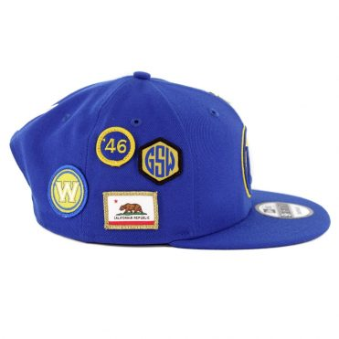 New Era 9Fifty Golden State Warriors NBA 2018 Draft Snapback Hat Royal Blue