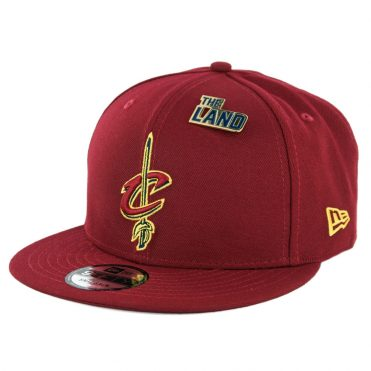New Era 9Fifty Cleveland Cavaliers NBA 2018 Draft Snapback Hat Burgundy