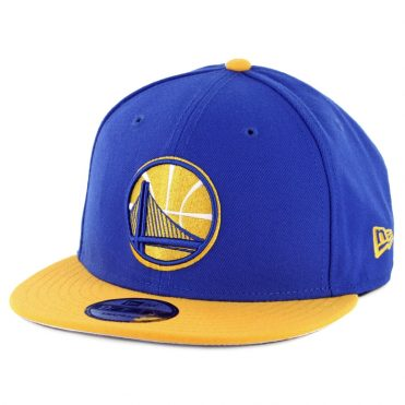 New Era 9Fifty Golden State Warriors 2018 Champion Snapback Hat Royal Blue Yellow