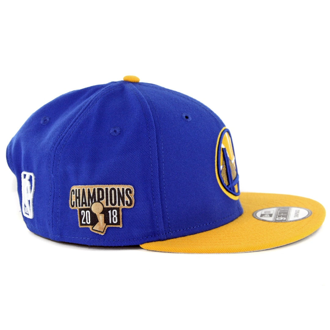 timeless design d3132 879a9 New Era 9Fifty Golden State Warriors 2018 Champion Snapback Hat Royal Blue  Yellow. 🔍.  32.00