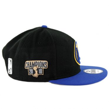 New Era 9Fifty Golden State Warriors 2018 Champion Snapback Hat Black Royal