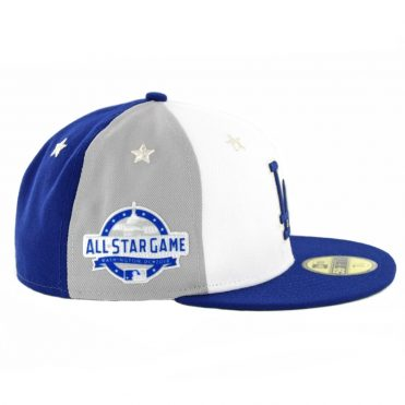 New Era 59Fifty Los Angeles Dodgers 2018 All Star Game Fitted Hat Dark Royal Blue Grey White