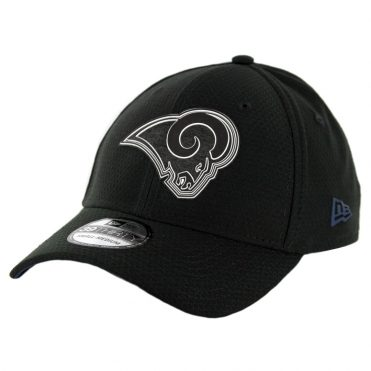 New Era 39Thirty Los Angeles Rams Training Onfield Sideline 2018 Stretch Fit Hat Black