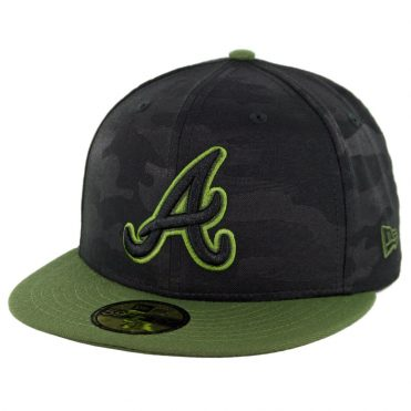 New Era 59Fifty Atlanta Braves 2018 Memorial Day Fitted Hat Black Army Green