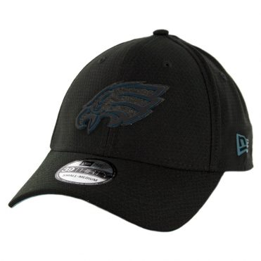 New Era 39Thirty Philadelphia Eagles Training Onfield Sideline 2018 Stretch Fit Hat Black