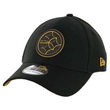 New Era 39Thirty Pittsburgh Steelers Training Onfield Sideline 2018 Stretch Fit Hat Black