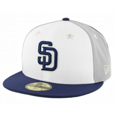 New Era 59Fifty San Diego Padres 2018 All Star Game Fitted Hat Navy Grey White