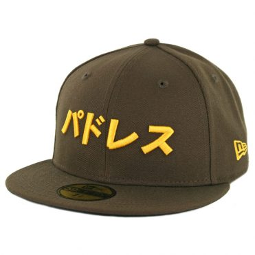 New Era 59Fifty San Diego Padres Katakana Fitted Hat Brown