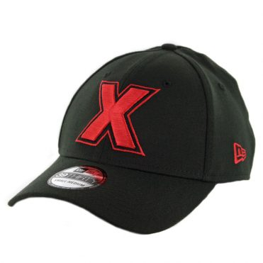 "New Era 39Thirty Tijuana Xolos ""X"" Logo Stretch Fit Hat Black Red"