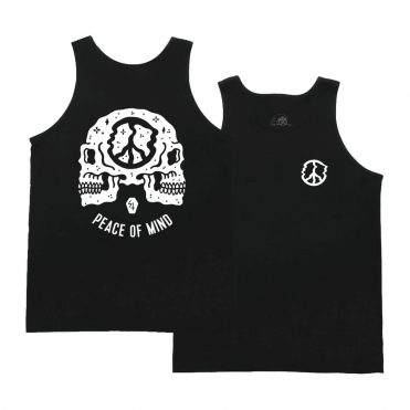 Sketchy Tank Peace Of Mind Tank Top Black