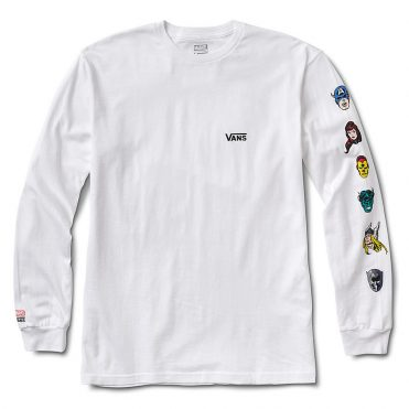 Vans x Marvel Characters Long Sleeve T-Shirt White