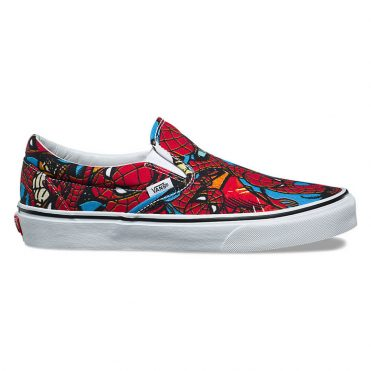 Vans x Marvel Classic Slip-On Shoe Spiderman Black
