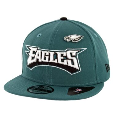 New Era 9Fifty Philadelphia Eagles Pinned Snapback Hat Midnight Green