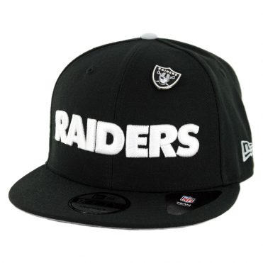 New Era 9Fifty Oakland Raiders Pinned Snapback Hat Black