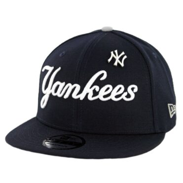 New Era 9Fifty New York Yankees Pinned Snapback Hat Dark Navy