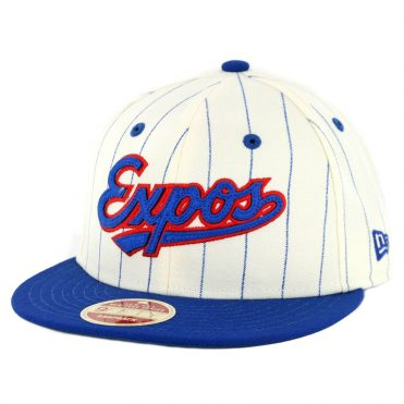 New Era 9Fifty Montreal Expos Cooperstown All Star Game 2018 Pinstripe Snapback Hat Off White Royal Blue