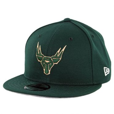 New Era 9Fifty Milwaukee Bucks Gaming Snapback Hat Dark Green