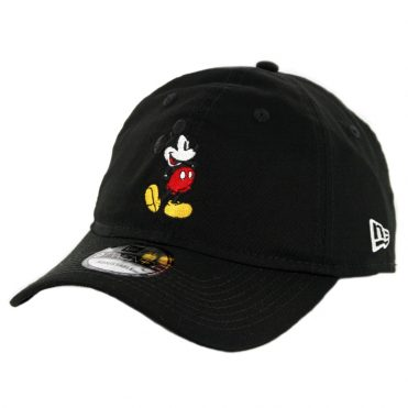 New Era 9Twenty Canvas Mickey Mouse Strapback Hat Black