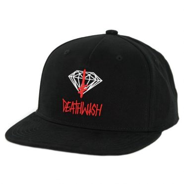 Diamond Supply Co x Deathwish Sign Snapback Hat Black