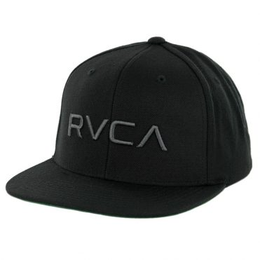 RVCA Twill Snapback Hat Black Charcoal