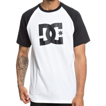 DC Shoes Star Raglan T-Shirt Black Snow White
