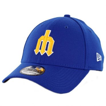 New Era 39Thirty Seattle Mariners Cooperstown Stretch Fit Hat Royal Blue