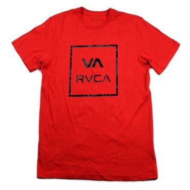 RVCA Dark Camo Short Sleeve T-Shirt Pompei Red