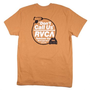 RVCA Don't Call Us Short Sleeve T-Shirt Apple Cinnamon