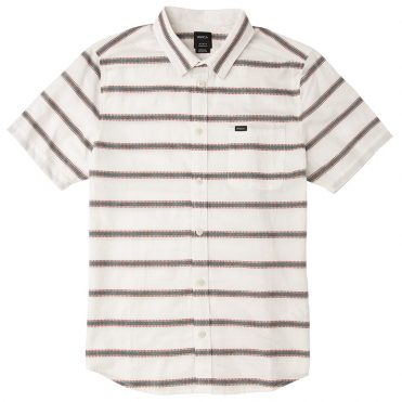 RVCA Outer Sunset Short Sleeve Shirt Silver Bleach