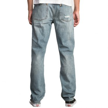 RVCA Stay Denim Jeans Worn Blue
