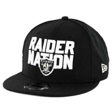 New Era 9Ffity Oakland Raiders Raider Nation Snapback Hat Black
