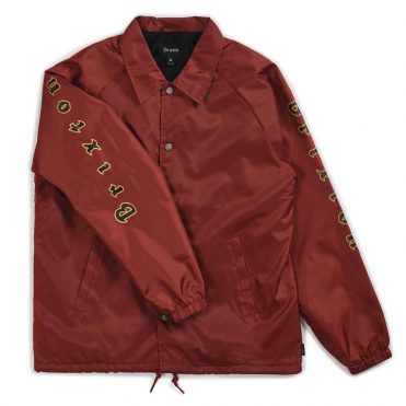 Brixton Primo Jacket Burgundy Black