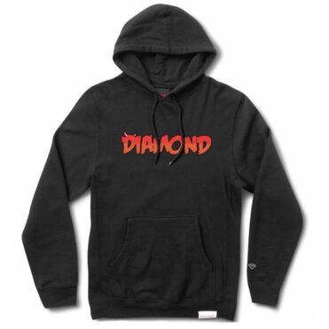 Diamond Supply Co See You Soon Hooded Pullover Sweatshirt Black