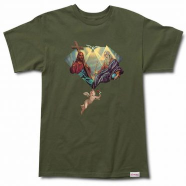 Diamond Supply Co Trinity Short Sleeve T-Shirt Military Green