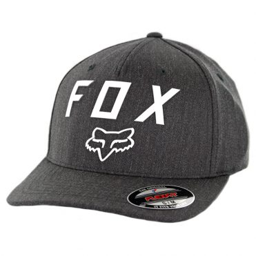 Fox Number 2 Flexfit Hat Heather Graphite