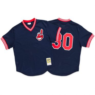 Mitchell & Ness Cleveland Indians Authentic BP 1986 Jersey Dark Navy