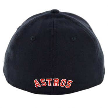 New Era 39Thirty Houston Astros Road Team Classic Stretch Fit Hat Navy Orange