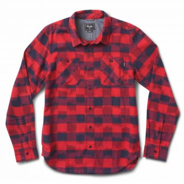 Primitive Buffalo Ikat Long Sleeve Shirt Midnight Red