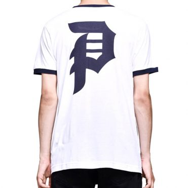 Primitive Dirty P Ringer T-Shirt White Navy