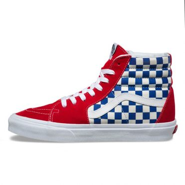 Vans BMX Checkerboard Sk8-Hi Shoe True Blue Red