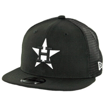 New Era 9Fifty Houston Astros Trucker Snapback Hat Black White