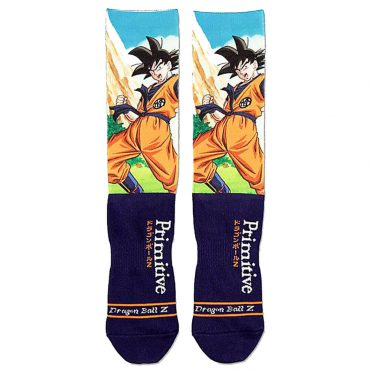Primitive x Dragon Ball Z Goku Battle Sock Navy