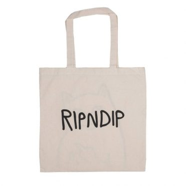 Rip N Dip Lord Nermal Tote Bag Natural