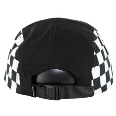 The Quiet Life Checker 5 Panel Camper Clipback Hat Black Checker