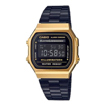 Casio A168WEGB-1BVT Watch Black Gold