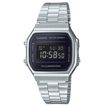 Casio A168WEM-1VT Watch Silver Black