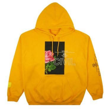 Civil Bloom Box Pullover Hooded Sweatshirt Gold