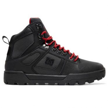 DC Shoes Men's Pure High-Top WR Boot Black Grey Red